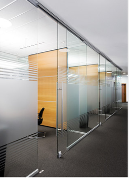 12mm Tempered Office Partition Glass Wall Manager Home Room Partition Panels