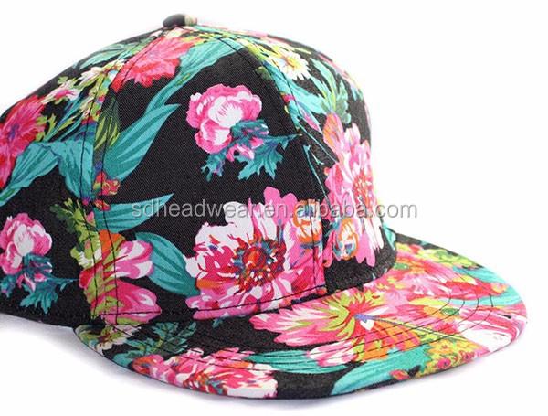 a69b616bcc0 hawaiian floral print flat brim snapback cap flower snapback cap custom  snapback cap hat