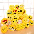 1pcs 30 30cm Emoji Smiley Emoticon Emotion Plush Cushion Pillow Yellow Round Plush Toy Doll Ornaments