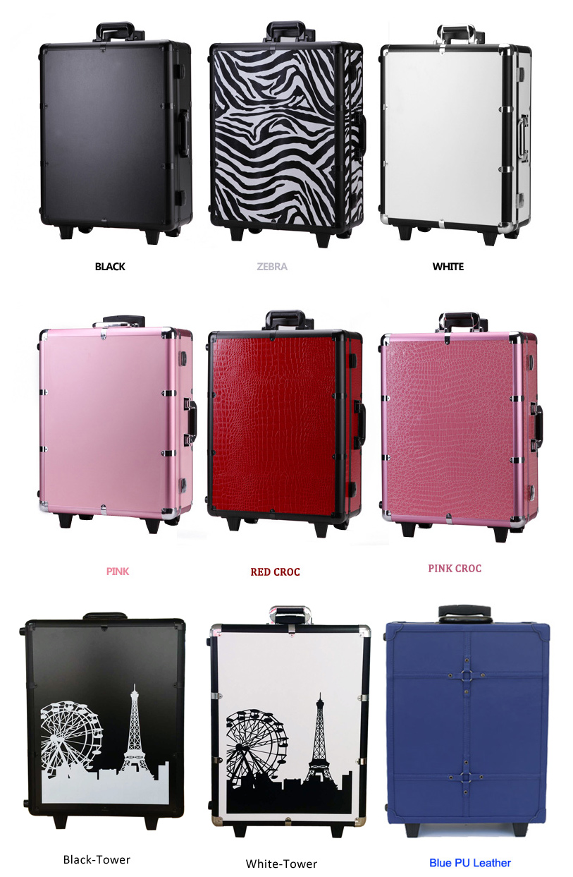 Moq 1pc Mobile Professional Portable Aluminum Makeup Case