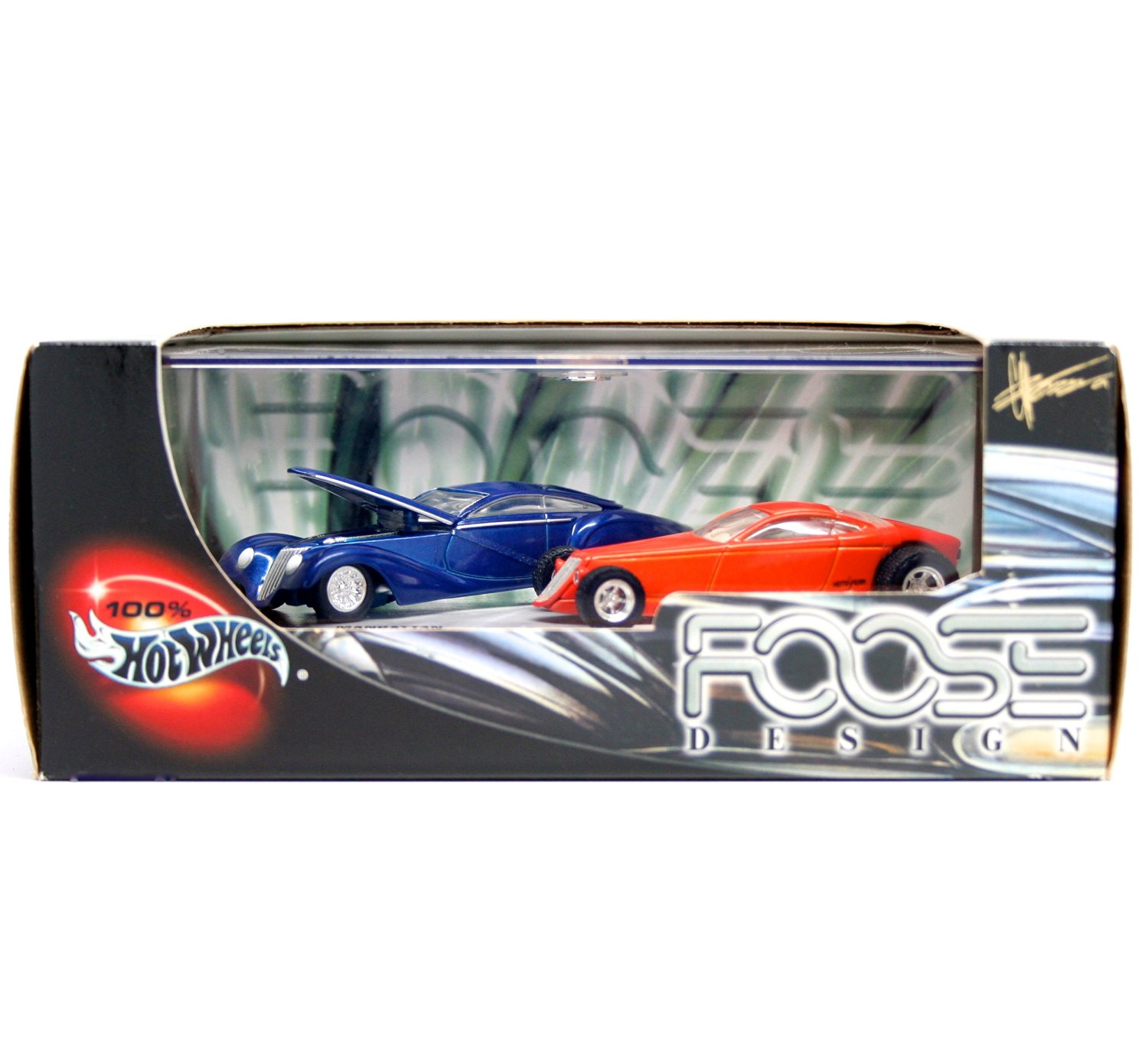 MANHATTAN & HEMISFEAR * Limited Edition * Hot Wheels 2001 FOOSE DESIGN 1:64 Scale 2-Car Custom Vehicle Box Set
