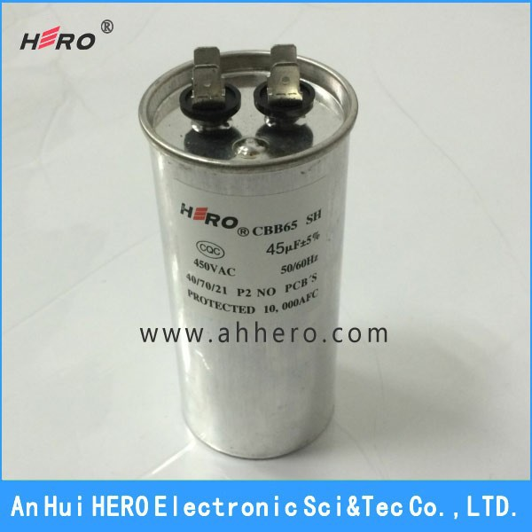 Top Quality AC 450V 50/60Hz Motor Start Capacitor 45uF