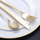 disposable plastic gold/silver coated cutlery set /fork/knife/spoon 72pcs dinner set