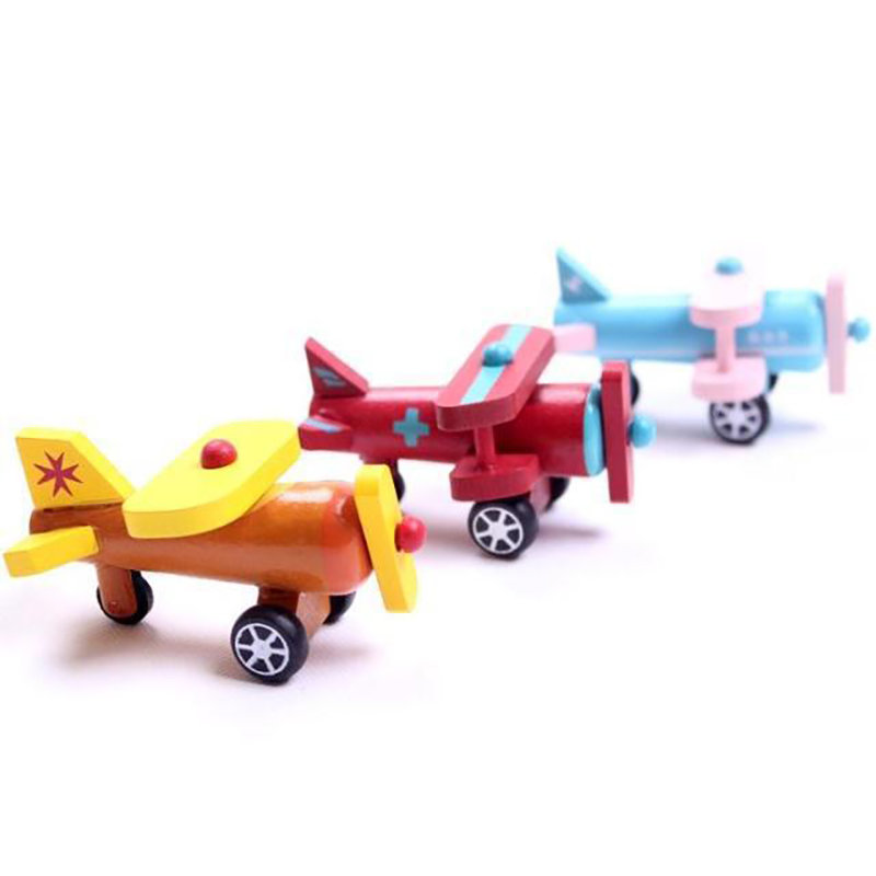 christmas New design fashionable mini wooden plane toy wholesale,small wooden model toy