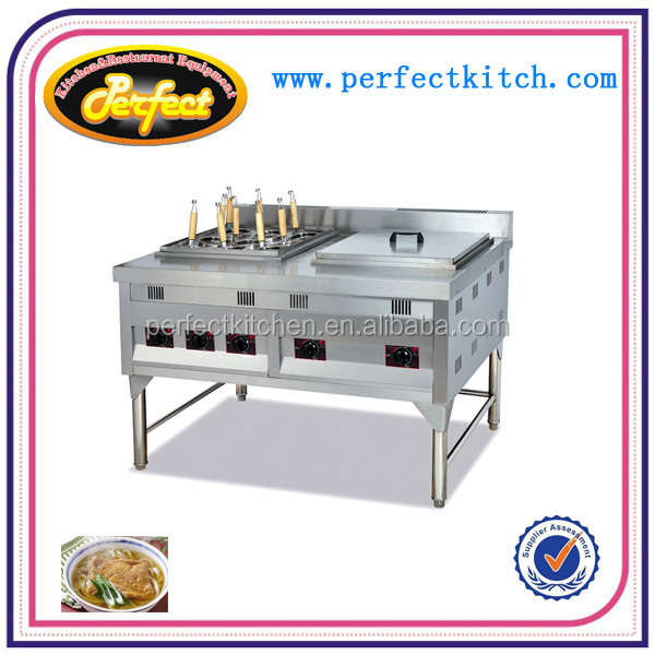 Gas convection pasta cooker & bain marie /noodle cooker with 9 baskets