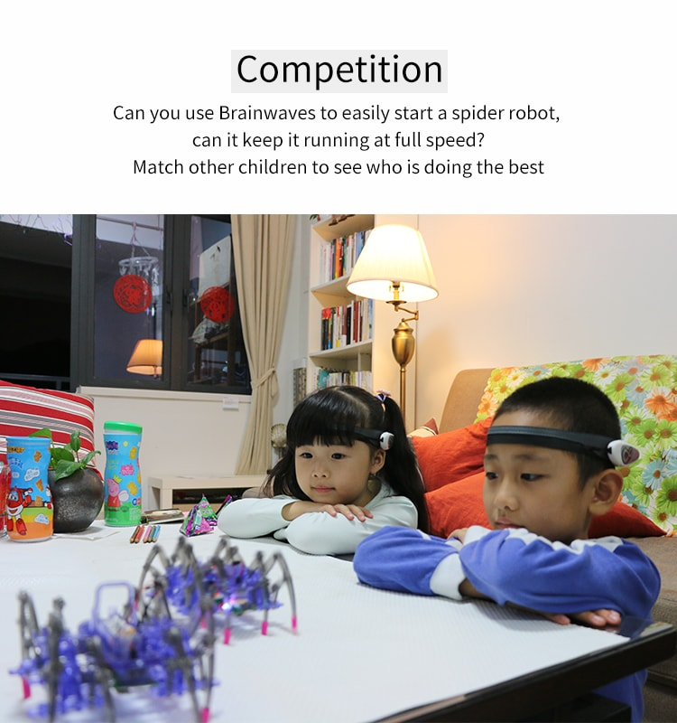 Artificial intelligence idea control MindLink Spider Robot toys