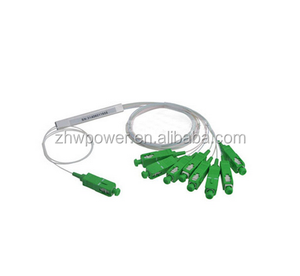 1x2 1x4 1x8 1x16 1X32 1X64 plc splitter apc sc steel tube type mini fiber optic splitter gpon splitter