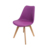 China wholesale dining room furniture Modern designer wood leg pu leather chair