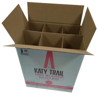 Cheap Price Corrugated Shipping 6 Bottle Mailing Corrugated Wine Bottle Packaging 5 Layer Carton Wine Box