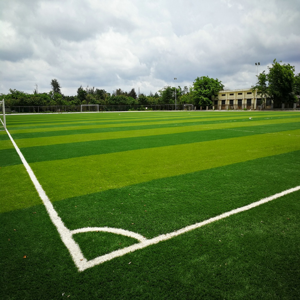Hoge gesimuleerde voetbal pitch 50mm kunstgras outdoor