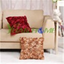 Stock satin cushion covers(red black A)