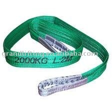 2T polyester flat webbing sling