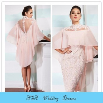 fc61ad019f8 MO108 Two piece elbise light pink short gelinlik with lace bolero bohemian  style mother of the