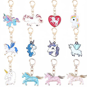 Rainbow Unicorn Keychains Unicorn Party Supplies Party Favors Animal Keychains