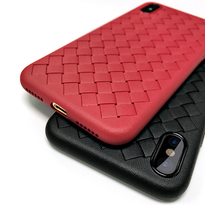 new 2019 arrival soft tpu cases for iphone case x weave pattern cover for apple mobile phone cases for iphone xs max