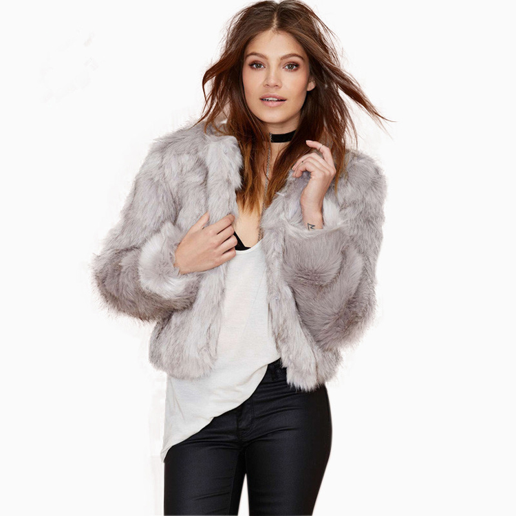 2016 new winter faux rabbit fur coat for women fur jackets