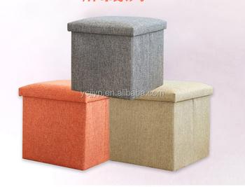 Best Seller Folding Kids Storage Ottoman, Cubby Storage Ottoman