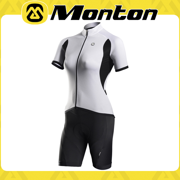 Clear pure color skin summer pro sports women lovely short sleeve athletic garment/cycling wear/outdoor clothing 2015