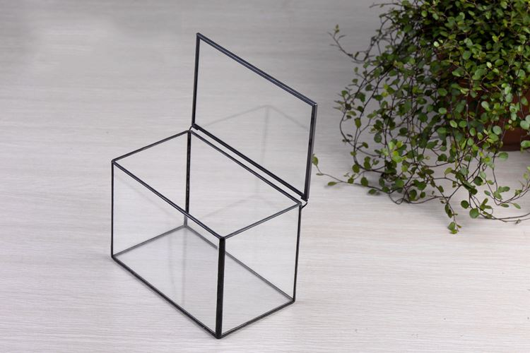 Garten dekoration geometrische glasterrarium cube for Blumentopf glas