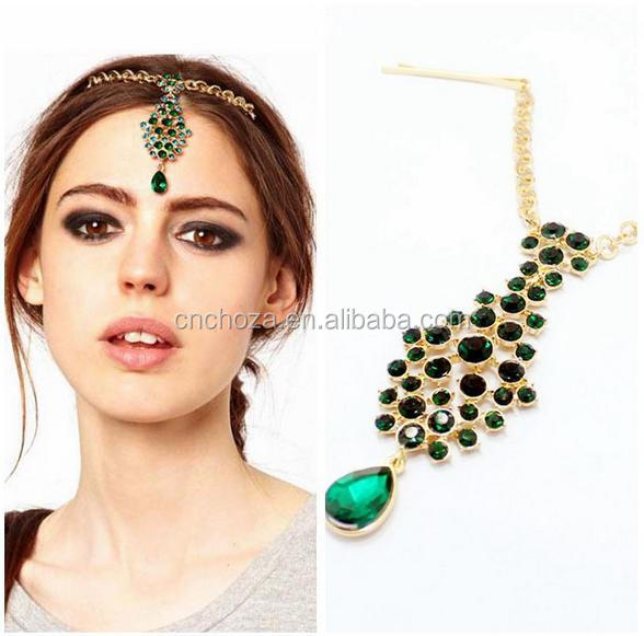Z54143B New Bride Hair Jewelry Forehead Chains Indian women Head Jewelry