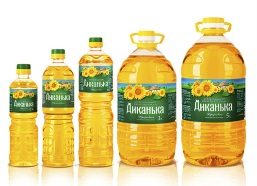 Sunflower Oil in the bottles