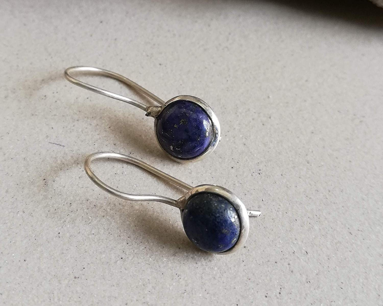 Lapis Lazuli Earring, 925 Silver Earring, Minimalist Earrings, Drop Dangle Earrings, Bridesmaid Jewelry, Blue Jewelry, Vintage Style Earring, Cocktail Earring, Elegant Earrings, Charm Earrings, Gypsy