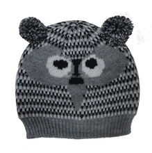 Infant Hats Baby Children Knitted Hats Gray Star Pattern Beanie Hat Autumn Winter Fashion Crochet Hats