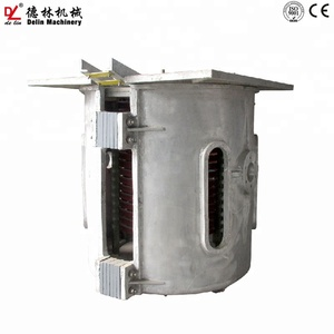 Rotary furnace melting iron brass zinc alloy 5 t 10 t 15t 20 t induction furnace for casting