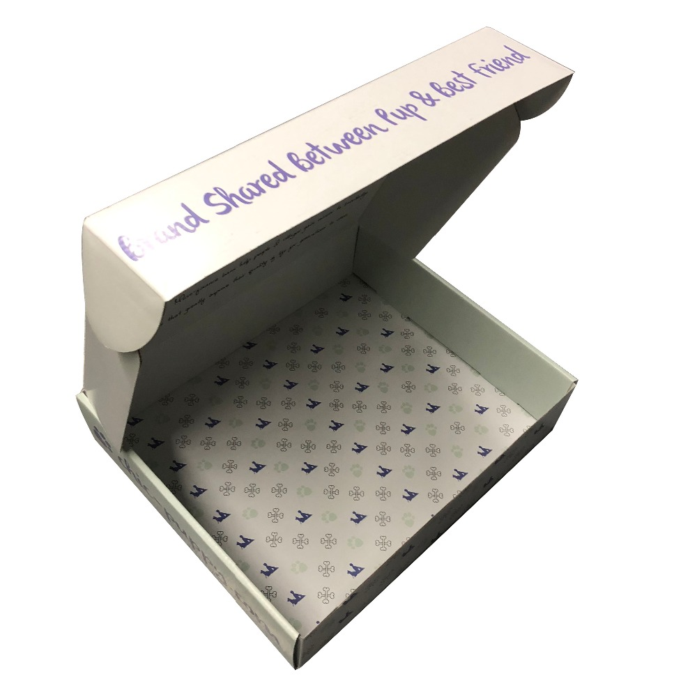 custom mailing printed shipping boxes simple ink print white corrugated paper box