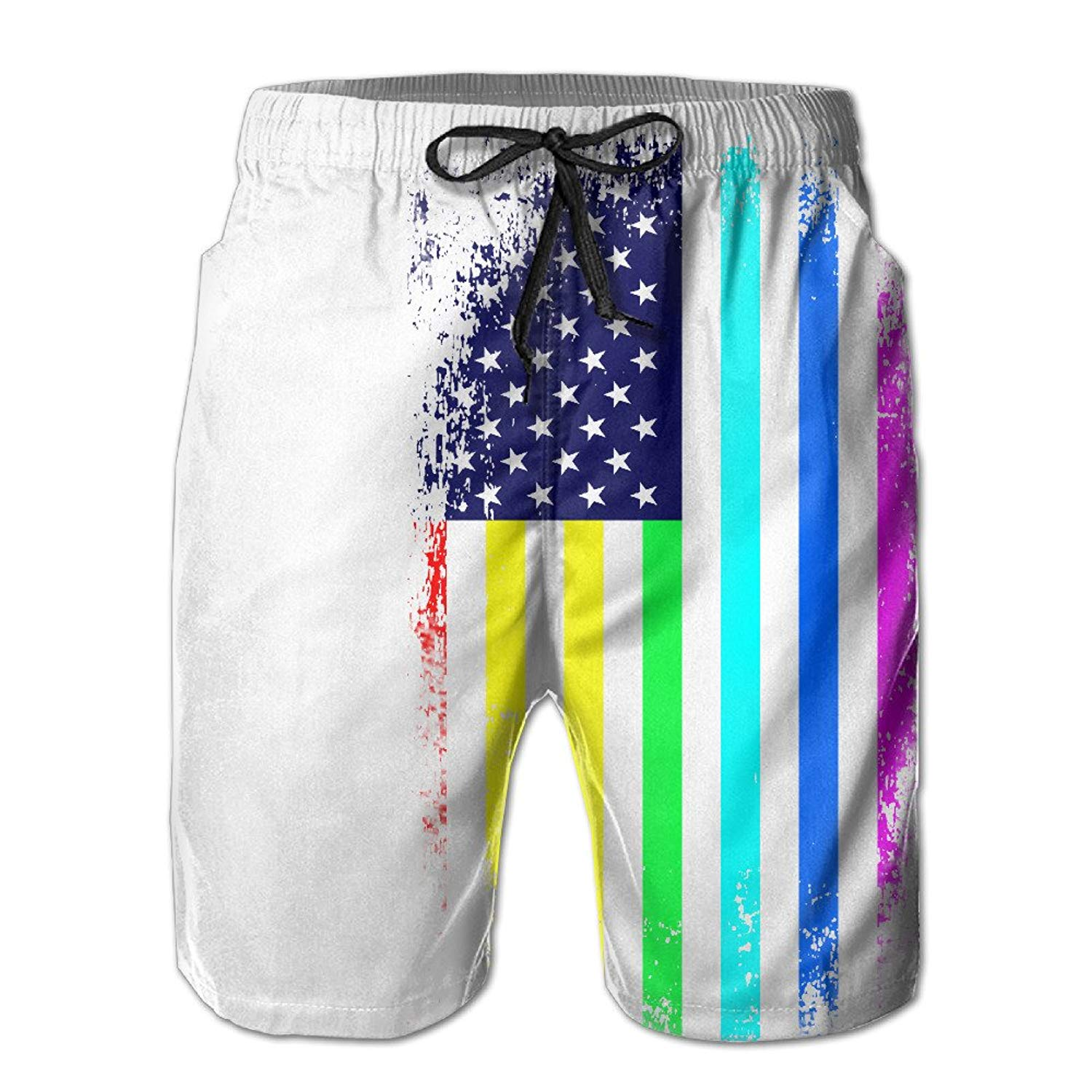 2f4bbddfb0 Clothing, Shoes & Jewelry CMEY Mens Board Shorts Jamaican Flag Swim Trunks  Summer Beach Shorts
