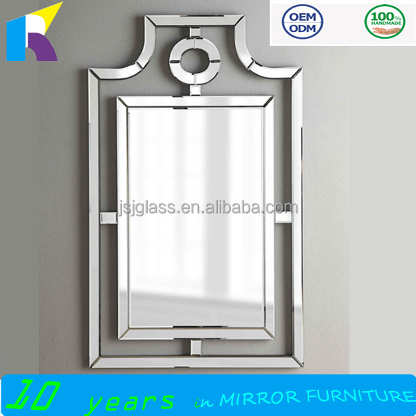 Contemporary design beveled-mirror frame decorative wall mirrors