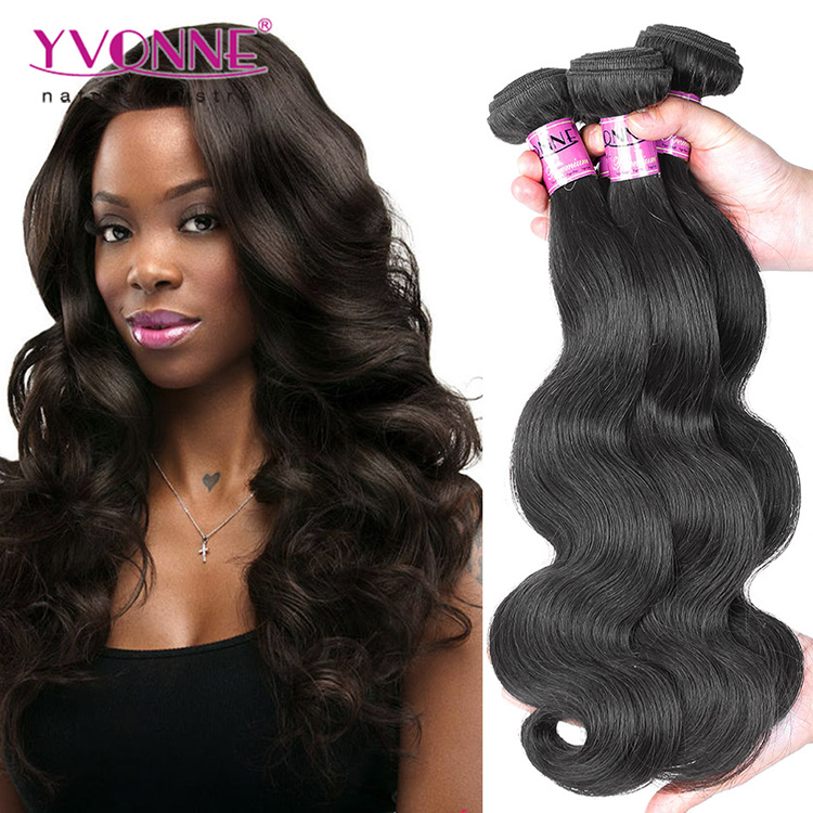 Aliexpress yvonne human hair weave brazilian body wave 100 human hair