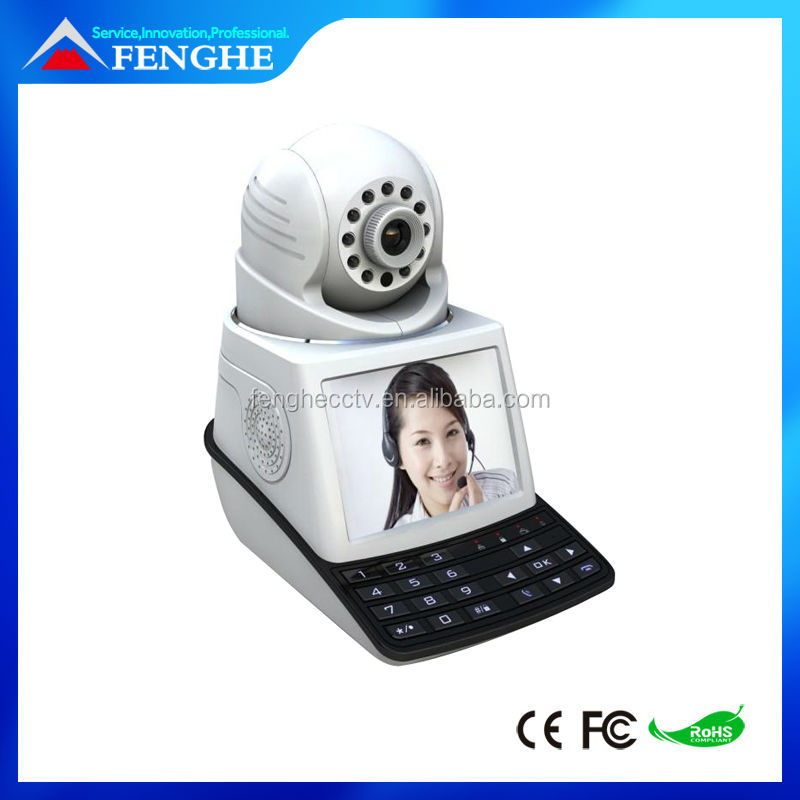 Smart wireless IP video phone ip camera cctv 3g sim card ip camera