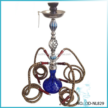 Large New Hookah Shisha 4 hoses Water Pipe Smoking Pipes Blue  sc 1 st  Alibaba : large hookah pipes - www.happyfamilyinstitute.com