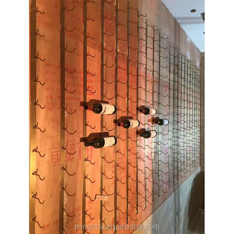 2017 China 3 Bottle Deep Wall Mounted Metal Wine Rack Wall Wire