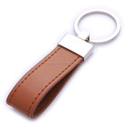 promotional key chain metal promotional leather key ring