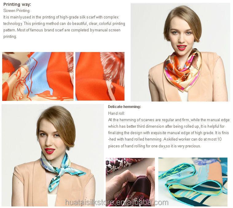 fashion silk neck scarf types neck scarves for