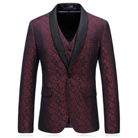 2019 Slim Fit Blazer Printing Style Latest Design Coat Pant Men Suits 3 Pieces Men Wedding Suits