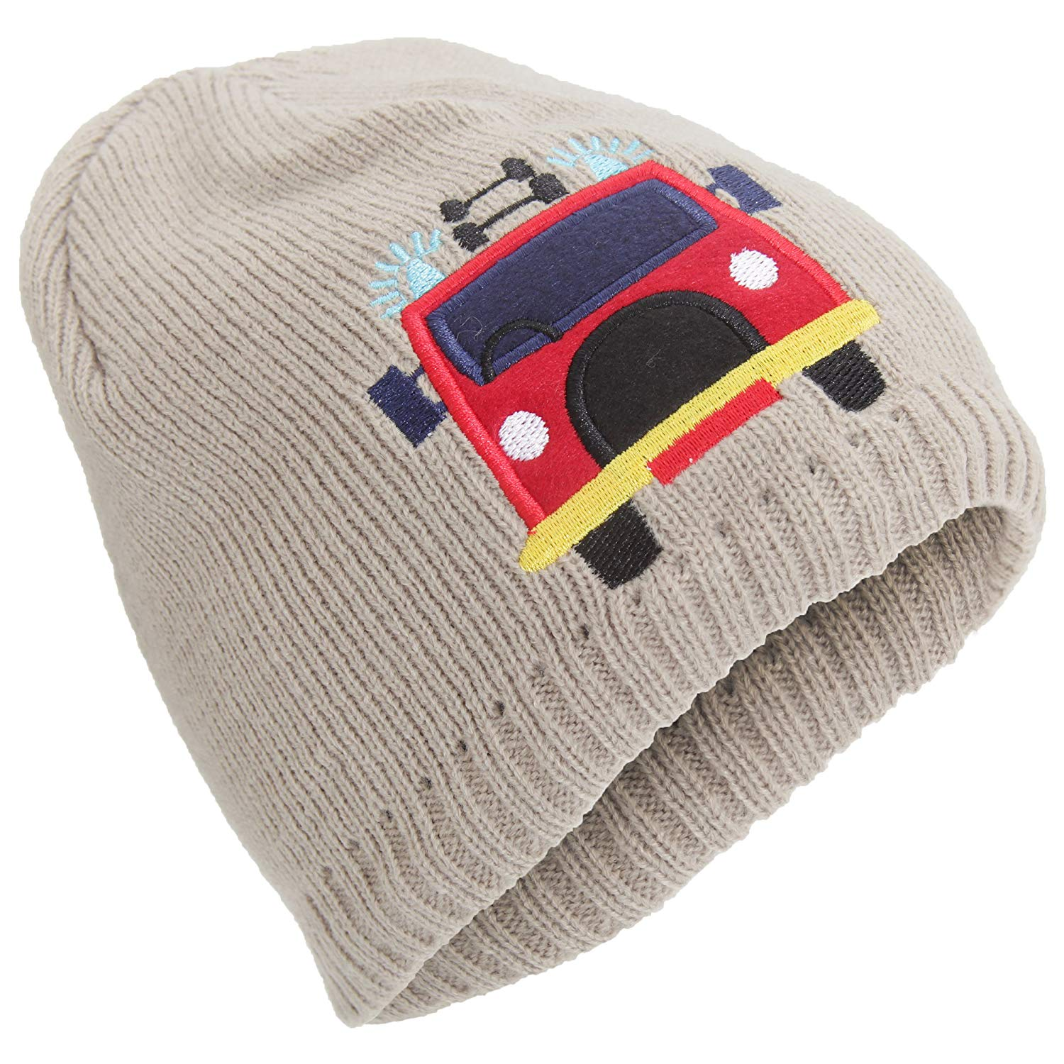 1b7c2f4c361 Get Quotations · Universal Textiles Childrens Boys Embroidered Fleece Lined Winter  Beanie Hat