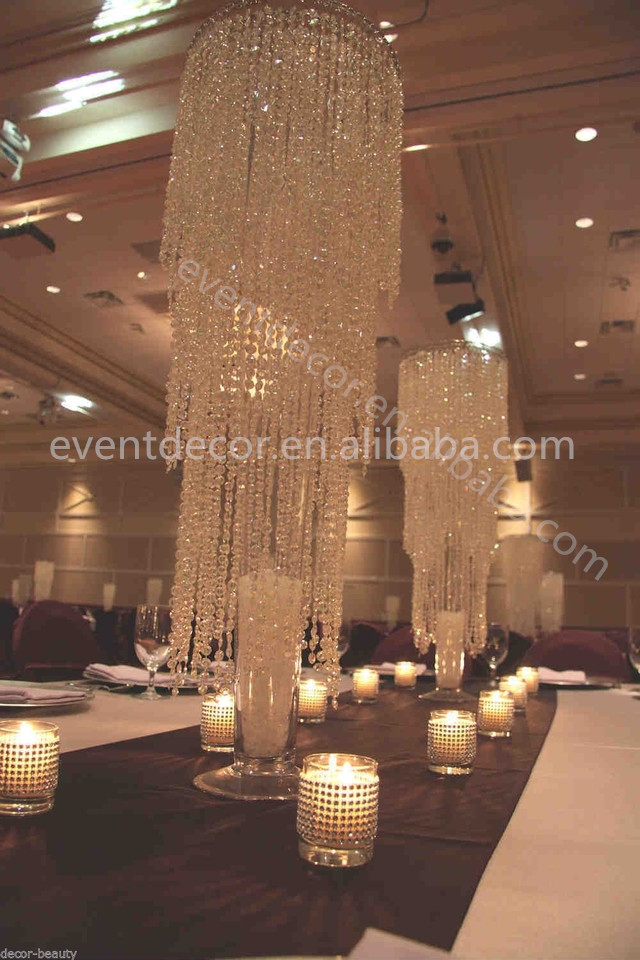 Wholesale chic modern waterfall crystal chandeliercrystal wedding wholesale chic modern waterfall crystal chandeliercrystal wedding centerpiece aloadofball Images