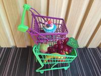 Mini grocery shopping metal double basket cart / Mini trolley desk tidy
