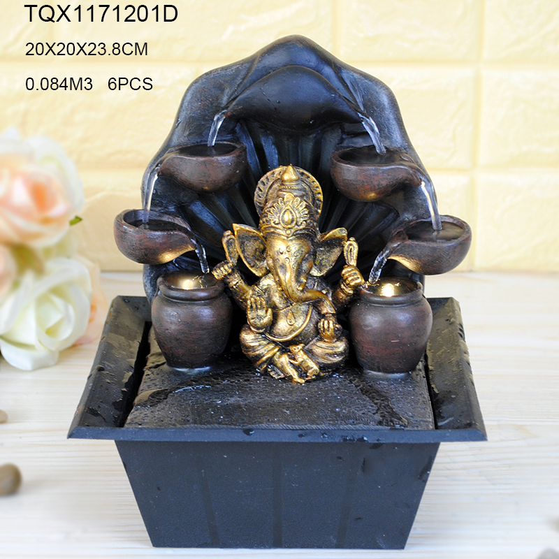 New arrival design resin indian water fountains for 2017