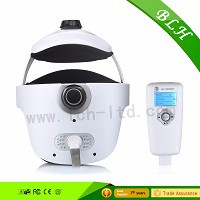 LCD screen Intelligent Rechargeable Head Neck Eye Massager(white)