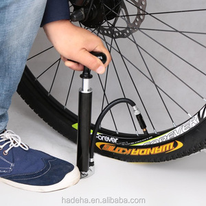 Bicycle Floor Pump Road MTB Hand Air Pump Bike Tire Ball Inflator with Outside Hose Presta & Schrader Compatible Mini Portable