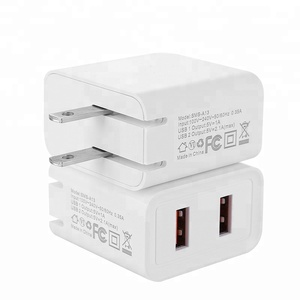 SMS-S77 foldable travel charger 2.1A double usb output charger fast and safe share with your friends