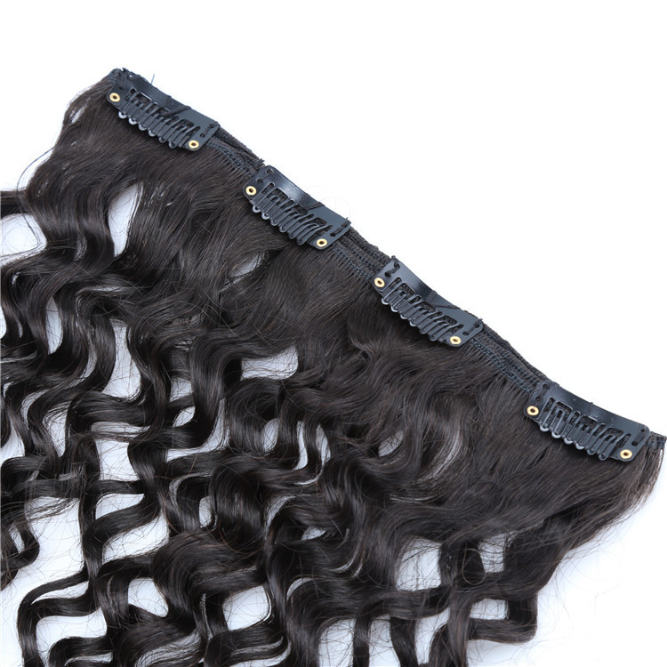 Brazilian human hair extension tight curly hair clip in extensions 14pcs