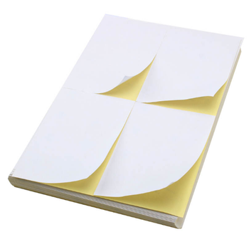 Mirror cast coated sticker paper with 38mm back slit
