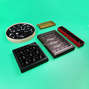 Custom PET PVC PP Disposable Food Tray Chocolate blister Tray Cookie plastic insert Trays