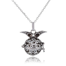 10PCS/Lot Stainless Steel Chain Owl Vocheng Angel Locket Necklace