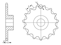 Double Pitch Precision Roller Chain Sprocket - Buy Double Sprocket ...